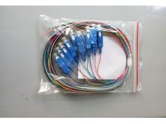 电信级SC方头12芯彩色1.5米12芯束状尾纤带状尾纤