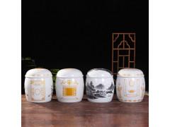 厂家批发陶瓷骨灰盒 青花瓷骨灰盒坛罐 男女用款寿盒棺材