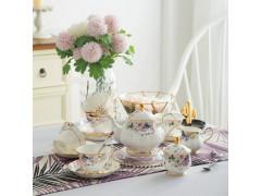 欧式陶瓷家用咖啡杯茶具英式整套创意宫廷咖啡具套装